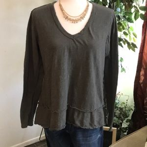 Anthropologie Left of Center tee